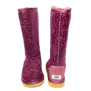 UGG Purple Patterned Boots